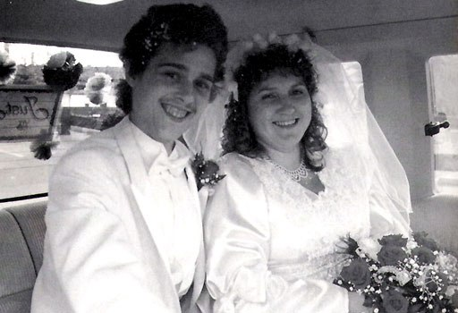 David Reimer e Jane Fontane il giorno del loro matrimonio